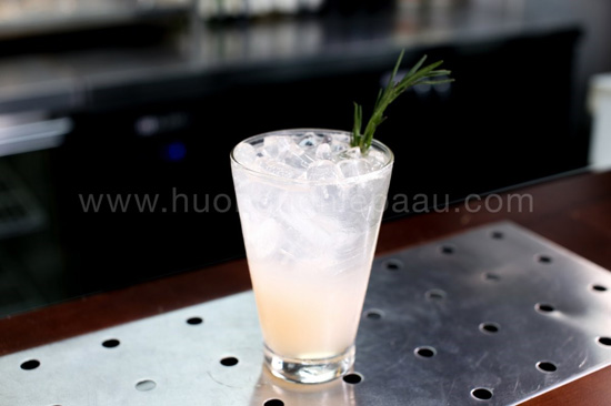 Mocktail Tropical Rosemary Pomelo
